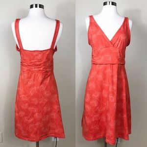 EUC✨PATAGONIA Margot Dress Floral Orange Medium